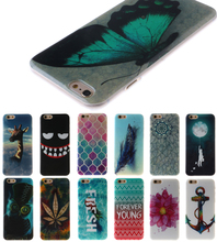 13 Patterns Flower Lion Owl butterfly Case For Capinha iPhone 4 4s se 5 5s 6 6s 6plus 7 7plus Cases Coque Funda TPU Silicone(China)