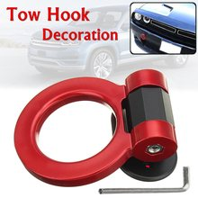 Universal Ring Track Racing Style Tow Hook Look Decoration For Cars SUV Trucks(China)