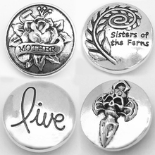 XH1100 LOVE Mother sister LIVE BELIEVE Friend Golf metal snap button(China)
