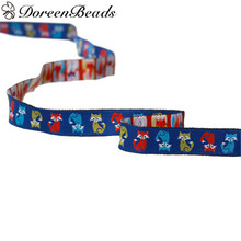 DoreenBeadsPolyester Woven Jacquard Easter Ribbon Multicolor Fox Pattern EmbroideredForWedding DecorationDIY Gift Craft 1.8m 1PC(China)