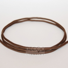 2 Core 0.75mm Round Vintage Rustic Brown Braided Fabric Wire Electrical Lighting Flex Cable(China)