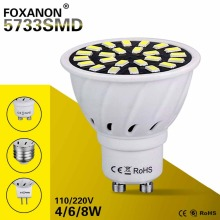 GU10 MR16 E27 Led Spotlight Lamp 220V 110V GU5.3 Leds Light 4W 6W 8W Lamps 5733 SMD Bombillas Led Lamparas Lights For Lighting