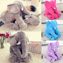 New Long Nose Elephant Doll Pillow Soft Plush Stuff Toys Lumbar Pillow Baby Gift New Hot Fashion(China)