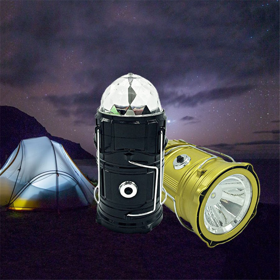 3 in 1 RGB Rotating led Stage Lights + Lantern + Flashlights Ultra Bright Rechargeable Lighting for Hiking Outdoor Emergency<br><br>Aliexpress