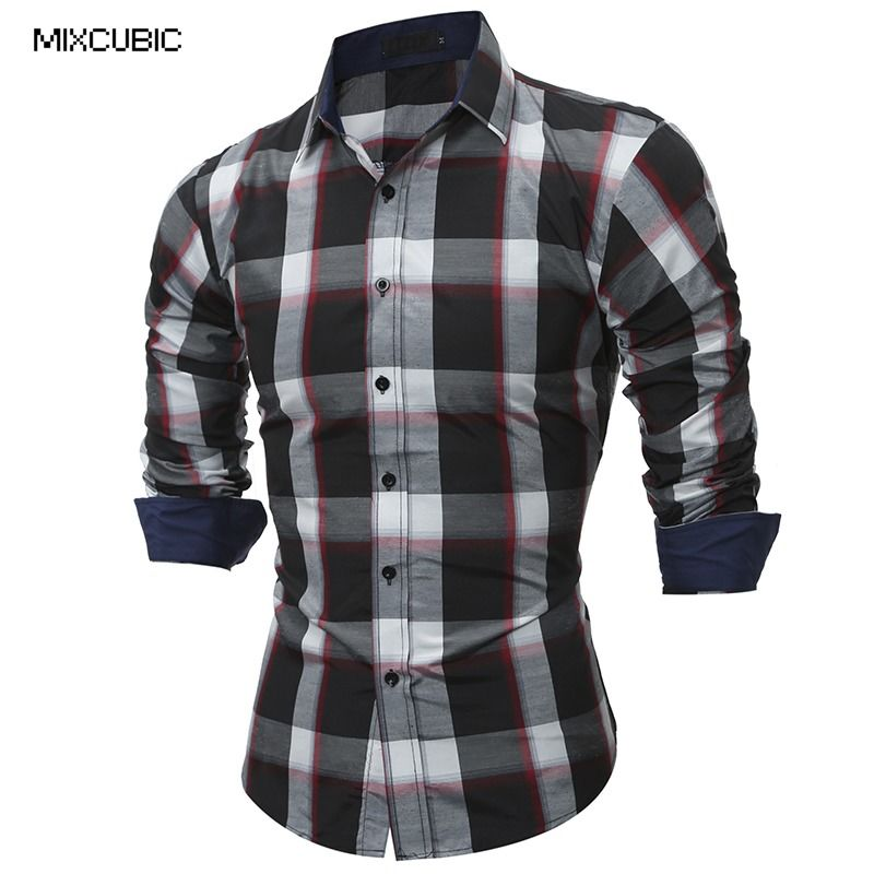 Compare Prices on Mens Check Shirts Cotton- Online Shopping/Buy ...