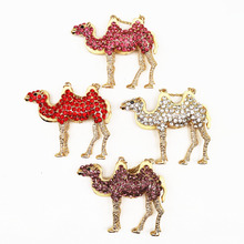 Fashion colorful crystal rhinestones exquisite lovely camel pendant women purse handbag car key chain ring gold chain S11