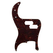 Yibuy Magma color PVC Pickguard Scratch Plate For Bass PB Guitar