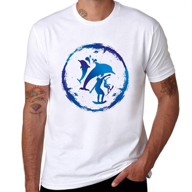 Surfer Brand Top Men T Shirts Men Cotton Tees Shirt