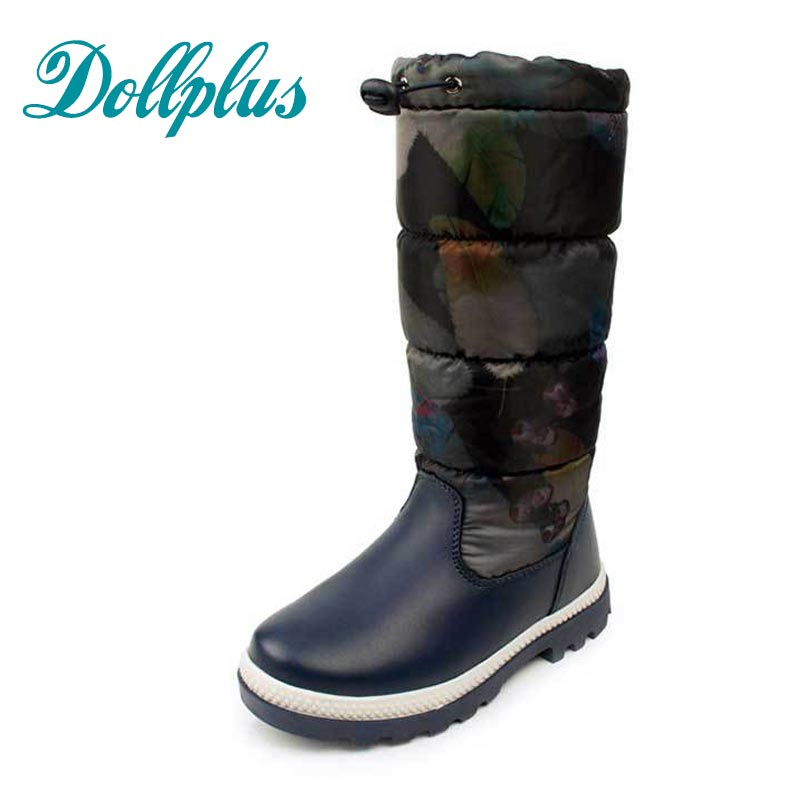 2017 New Winter ChildrenS Rubber Boots Kids Warm Fashion High Boots Waterproof Non-Slip  Warm Patch  Shoes Eur Size 27#-32<br>
