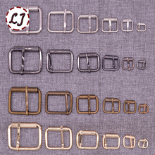 New 10pcs/lot 10mm/20mm/25mm/30mm/40mm silver bronze gold Square metal shoes bag Belt Buckles decoration DIY Accessory Sewing(China)