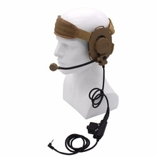 HD03 Z Tactical Bowman Elite II Headset with U94 PTT for Motorola Walkie Talkie TLKR T6 T7 T80 Talkabout MR350R MH230R MJ270R