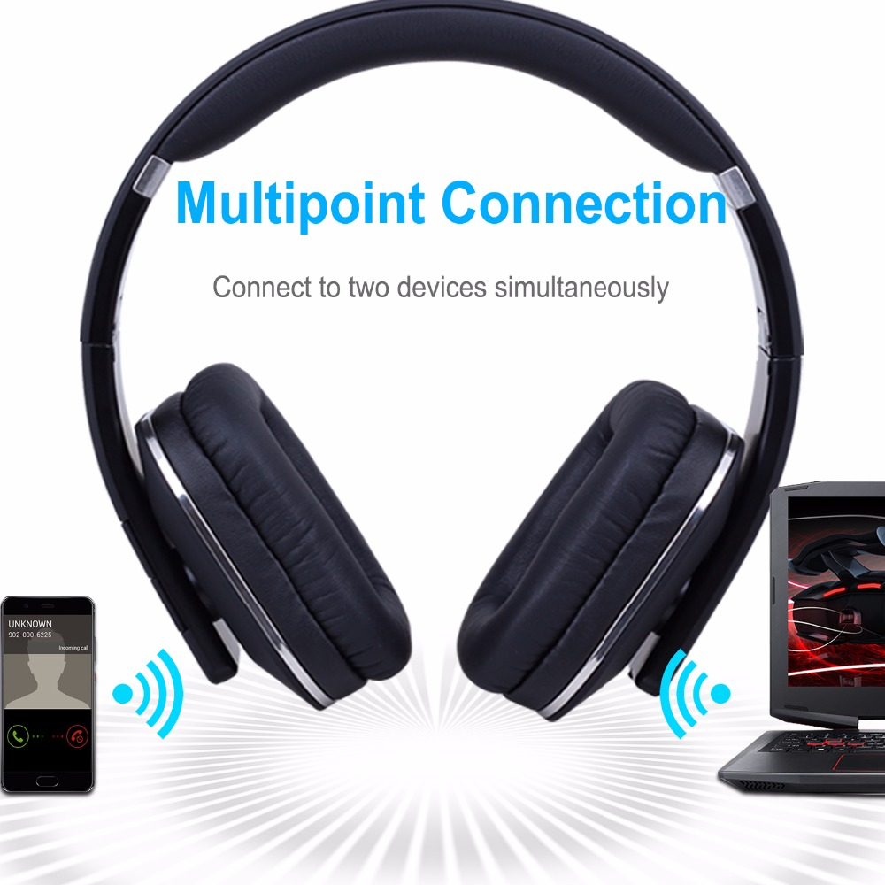 August EP650 New Wireless Bluetooth Headphones with Multipoin Function