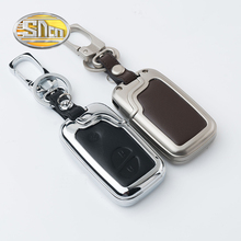 SNCN Car Styling Zinc Alloy Key Chain Clip Ring With Genuine Leather Key Holder Bag Cover Case For Lexus RX LS LX GX GT(China)