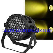 Free shipping 4pcs/lot Warm White Stage Light 54*3w WW Outdoor LED PAR 64 can waterproof IP65