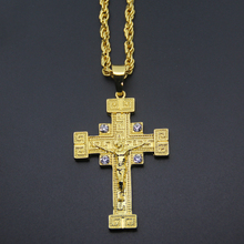 Mens Iced Out Jesus on Cross Pendant Necklace Hip hop Necklace N532