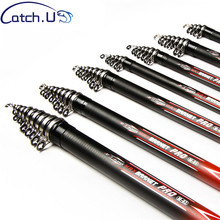 Catch.U Spinning Fishing Rod Fast Action Telescopic Fishing Rods Carbon Telescopic Spinning Rod(China)