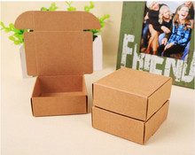 2017 Natural Kraft paper gift packaging box,small craft box folding kraft paper,brown handmade soap paper cardboard box