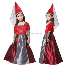 2017 NEW cosplay Magic witch costume Christmas Halloween costumes Kids Cute Girl Princess Dress