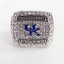 SEC UK Wildcats 2012 NCAA National Champions Basketball Championship Ring Alloy Ring Collection for men ring(China)