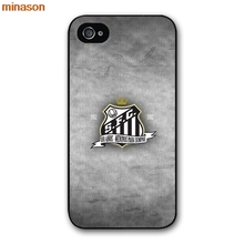 minason Santos FC Logo Black Phone Cover case for iphone 4 4s 5 5s 5c 6 6s 7 8 plus samsung galaxy S5 S6 Note 2 3 4 S5673(China)