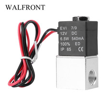 "Aluminum 1/4"" 2 Way Normally Closed Pneumatic Electric Solenoid Air Valve 12V DC(China)"