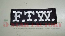 FTW Patch is embroidered Iron On Biker Patch. Harley Motorcycle Jacket Military PATCHES