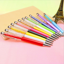 Hot Sale School Stationery Quality Diamond Touch Screen Ballpoint Pen Bling Crystal Metal Ball Point Pens School Office Supplies(China)