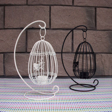 Fashion Egg Birdcage Candler Holder Iron Bird Wedding Bird Cage White BL  New Year Handing Home Decoration 2017 New Arrived