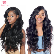 BeauHair 8A Brazilian Body Wave 3 Bundles With Closure Brazilian Hair Weave Bundles Human Hair Extensions With Lace Closure(China)