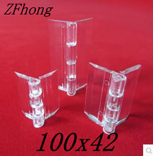 10pcs 100x42mm Acrylic Hinge , perspex Transparent Hinge , Plexiglass Hinge , organic glass hinge 100x40mm ,furniture accessory(China)