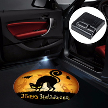 1pcs Halloween Decoration Car Styling Door Light Wireless Car Logo LED Welcome Light For BMW AUDI VW Benz Ford Projector Light(China)