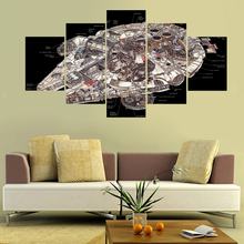 Hot Battleship Canvas Prints Painting Wall Picture 5 piece wall art room decor poster (No Framed)(China)