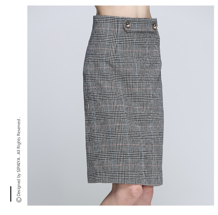 Women Houndstooth Skirt (11)