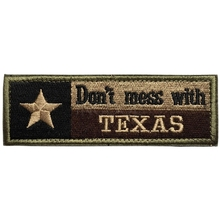 Embroidery Patch Don't Mess With Texas State Flag Morale Patch Tactical Military Emblem Badges Appliques Embroidered Patches(China)