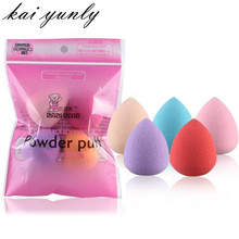 5PCS Pro Beauty Cosmetic Flawless Makeup Blender Powder Foundation Liquid Puff Multi Shape Sponges Make Up Aug31