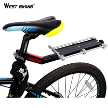 WEST BIKING Bike Rack Bicycle Luggage Carrier Cargo Rear Rack Reflector Shelf Cycling Seatpost Bag Holder Stand Bicycle Racks