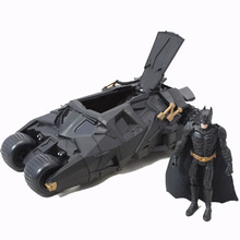 BOHS Movie Dark Knight Rises Bane & Batman Figures Doll & Chariot Batmobile Model Genuine Action Figure Set, No Retail Box(China)