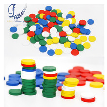 Educational wooden toys Round Pieces Learning Math Mathematics Counting Number Operation School Kindergarten Teaching Kids(China)