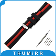19mm 20mm 21mm 22mm Silicone Rubber Watch Band for Casio BEM 302 307 501 506 517 EF MTP Series Wrist Strap Bracelet Black Red
