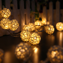 Fashion 20 LED Festoon Party Ball string lamp led Christmas Lights fairy wedding garden pendant garland outdoor decoration light(China)