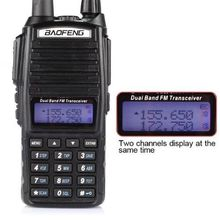 Baofeng UV-82 Dual-Band 136-174/400-520 MHz FM Ham Two-way Radio Transceiver+earpiece in Moscow stock(China)