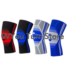 2016 Free Shipping 1 Pc 3 Color Knee Support Brace Leg Arthritis Injury Gym Sleeve Elasticated Bandage Pad Elbow & Knee Pads(China)