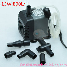 Silent  15W 800L/H Aquarium Poweheader Submersible Pump Fish Tank Water Pump Liquid Filter Various Outlet Connectors