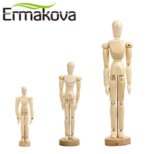 ERMAKOVA 12&8&5.5 Inches Tall Wooden Human Mannequin Movable Limbs Human Artist Wooden Manikin Drawing Mannequin Model(Unisex)