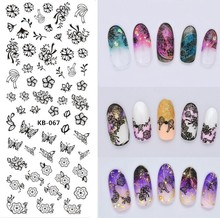 Rocooart DIY Stars Flowers Flags Nail Art Decorations Stickers Floral Water Transfer Nail Art Stickers Manicure Tools Lovely Art(China)
