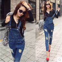 2017 New Autumn Plus size Korean New Women Jumpsuit Denim Overalls Casual Skinny Pants Jeans Sexy Clothes Women Playsuit Fashion