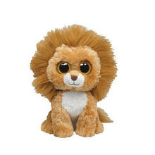 "Pyoopeo TY Beanie Boos 10"" 25cm King the Lion Plush Beanie Babies Plush Stuffed Collectible Soft Big Eyes Doll Toy"