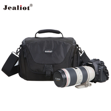 Jealiot Multifunctional Professional Camera shoulder bags digital Bags waterproof shockproof Video Photo case for DSLR Canon