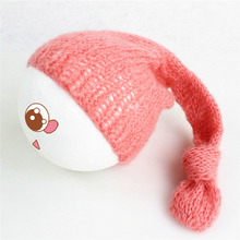 Newborn Knitted Hat Bonnet Soft Mohair Baby Boy Girl Crochet Cap Photography Props Aaccessories Multi-Colors Photo Prop(China)