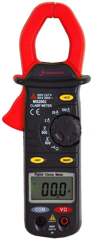 Mastech MS2002 Digital Clamp Meter Multimeter AC Current DC/AC Voltage Resistance Audible Continuity Measurement Manual Range<br>